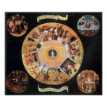 Bosch-Table with scenes of the seven deadly sins Poster