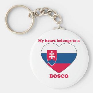 Bosco Basic Round Button Keychain