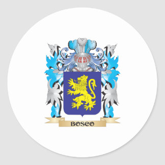 Bosco Coat of Arms Round Stickers