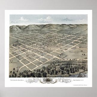 Boscobel, mapa panorámico de los WI - 1869 Impresiones
