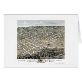 Boscobel, mapa panorámico de los WI - 1869 Tarjetas