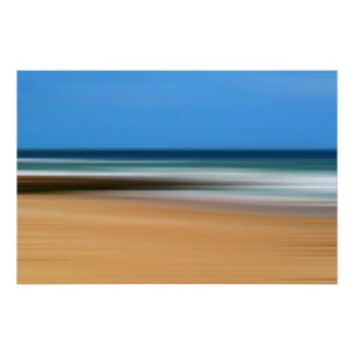 Boscombe Beach Abstract Poster