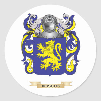 Boscos Coat of Arms (Family Crest) Round Sticker