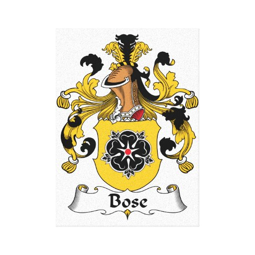 Bose Family Crest Canvas Print