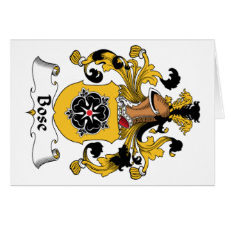 Bose Family Crest Card