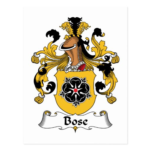 Bose Family Crest Post Card