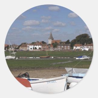 Bosham Harbour Round Stickers