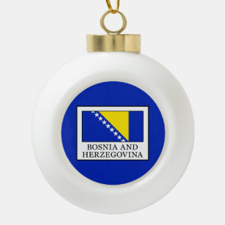 Bosnia and Herzegovina Ceramic Ball Christmas Ornament