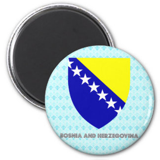 Bosnia And Herzegovina Coat of Arms 2 Inch Round Magnet