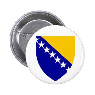 Bosnia and Herzegovina Coat of arms BA Pinback Buttons