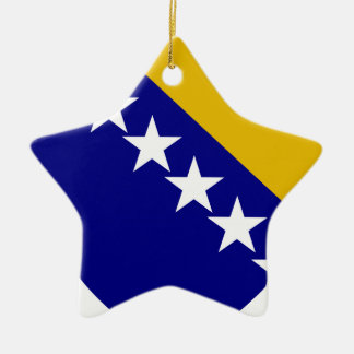 Bosnia and Herzegovina Coat of Arms Double-Sided Star Ceramic Christmas Ornament
