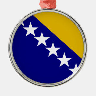 Bosnia and Herzegovina Coat of Arms Round Metal Christmas Ornament