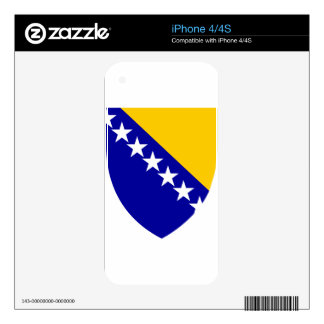 Bosnia And Herzegovina Coat Of Arms Decals For iPhone 4