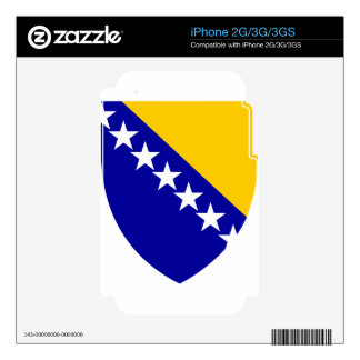 Bosnia And Herzegovina Coat Of Arms iPhone 2G Decals