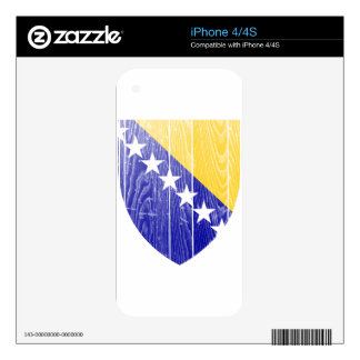 Bosnia And Herzegovina Coat Of Arms iPhone 4S Decals