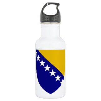 Bosnia and Herzegovina Coat of Arms Stainless Steel Water Bottle