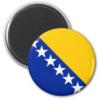 Bosnia and Herzegovina Flag BA 2 Inch Round Magnet