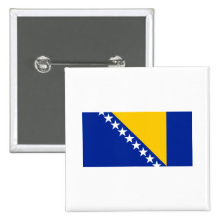 Bosnia and Herzegovina Flag BA Pinback Button