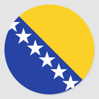 Bosnia and Herzegovina Flag BA Classic Round Sticker