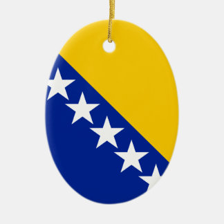 Bosnia and Herzegovina Flag Ceramic Ornament