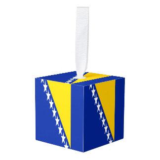 Bosnia and Herzegovina Flag Cube Ornament