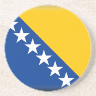 Bosnia and Herzegovina Flag Drink Coaster