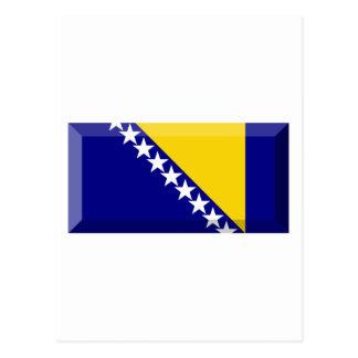 Bosnia and Herzegovina Flag Jewel Postcard