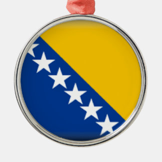 Bosnia and Herzegovina Flag Metal Ornament