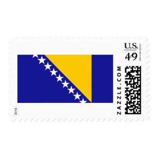 Bosnia and Herzegovina Flag Postage Stamp
