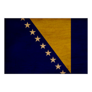 Bosnia and Herzegovina Flag Poster