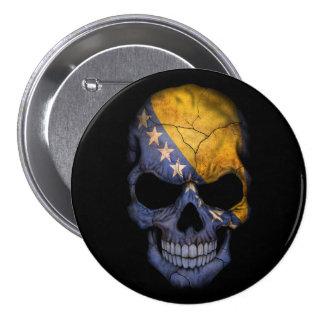 Bosnia and Herzegovina Flag Skull on Black Pins