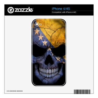 Bosnia and Herzegovina Flag Skull Decals For The iPhone 4S