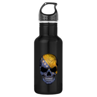 Bosnia and Herzegovina Flag Skull Stainless Steel Water Bottle