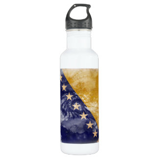 Bosnia and Herzegovina Flag Stainless Steel Water Bottle