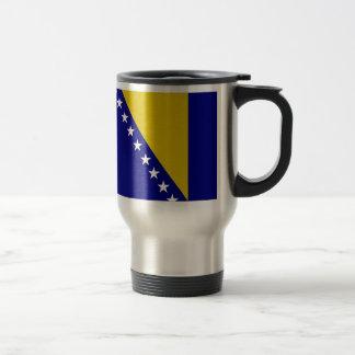 Bosnia and Herzegovina Flag Travel Mug