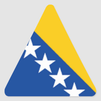 Bosnia and Herzegovina Flag Triangle Sticker