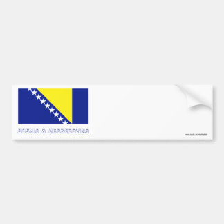 Bosnia and Herzegovina Flag with Name Bumper Sticker