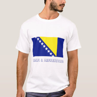 Bosnia and Herzegovina Flag with Name T-Shirt