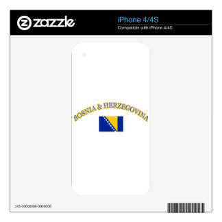 Bosnia and herzegovina football design skin for iPhone 4S