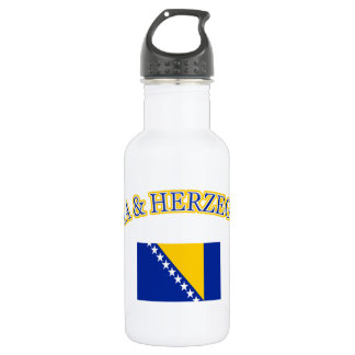 Bosnia and herzegovina football design stainless steel water bottle