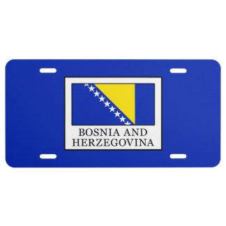 Bosnia and Herzegovina License Plate