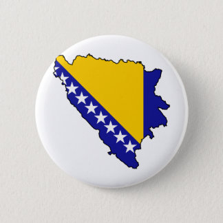 Bosnia and Herzegovina map BA Pinback Button