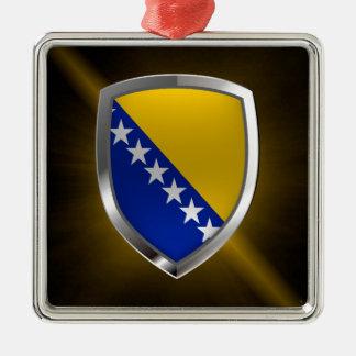 Bosnia and Herzegovina Metallic Emblem Metal Ornament