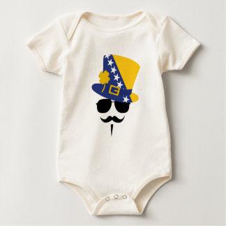 Bosnia and Herzegovina of goes Mustache Baby Bodysuit