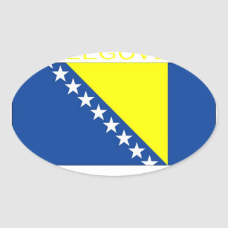 Bosnia and Herzegovina Oval Sticker