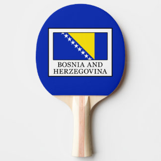 Bosnia and Herzegovina Ping-Pong Paddle
