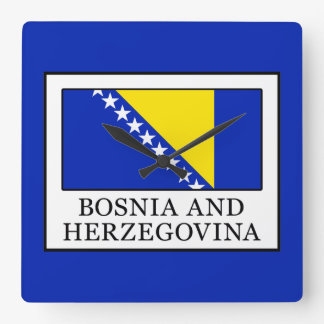 Bosnia and Herzegovina Square Wall Clock