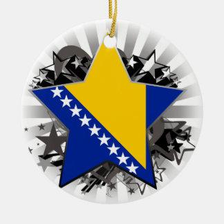 Bosnia and Herzegovina Star Ceramic Ornament