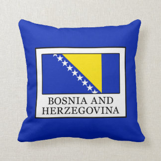 Bosnia and Herzegovina Throw Pillow