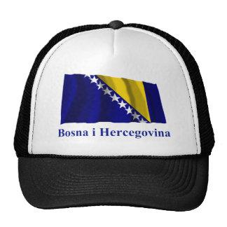 Bosnia and Herzegovina Waving Flag Name in Bosnian Trucker Hat